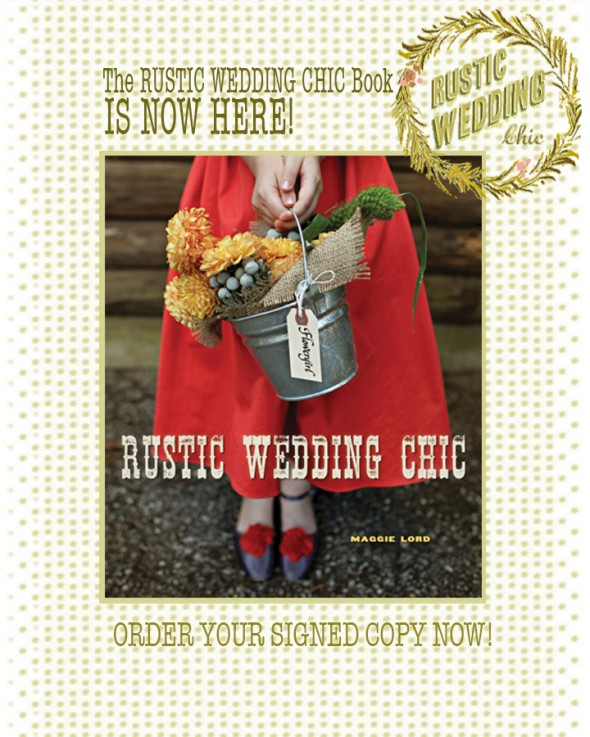 Wedding Giveaway Ideas 2012 : Rustic Wedding Chic Book GiveawayRustic Wedding Chic