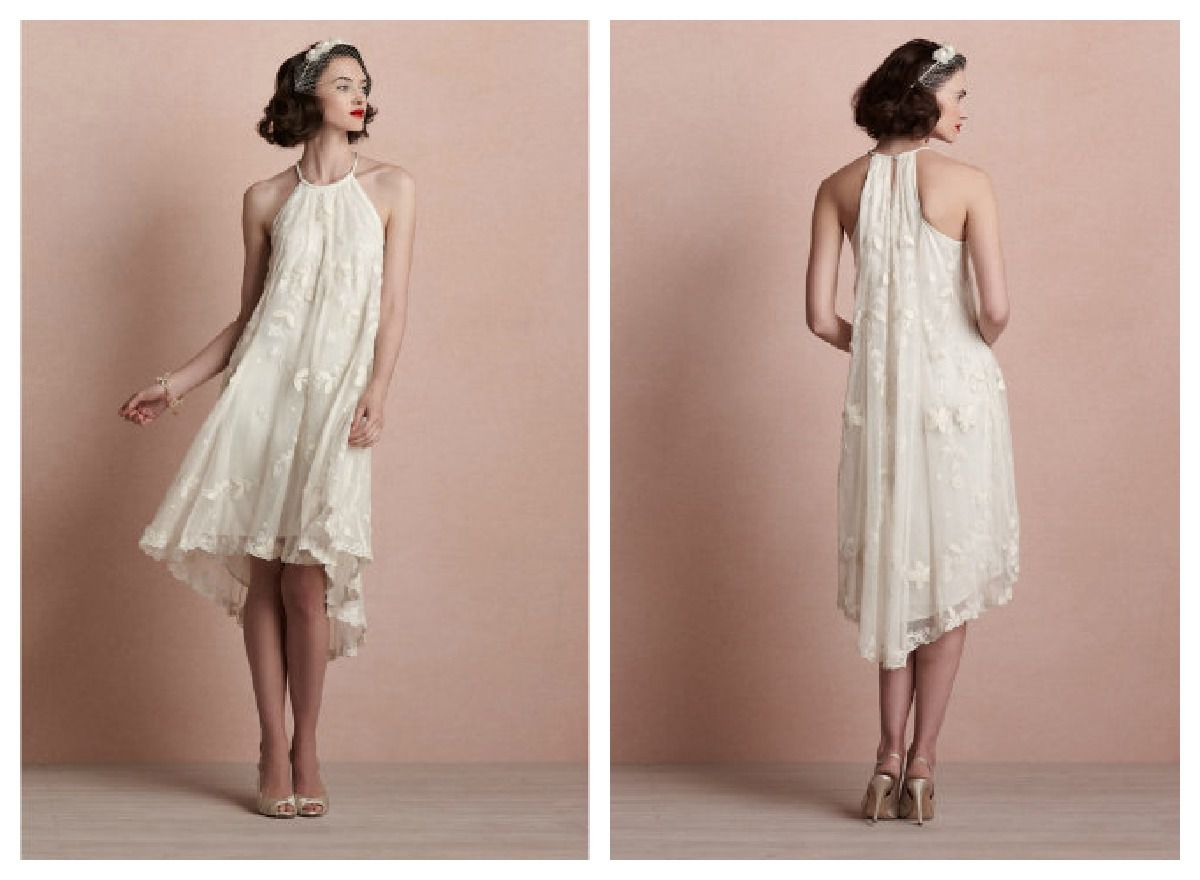 Beige Lace Bhldn Wedding Dress Or Bridesmaid Gown: Fall Wedding Gowns From BHLDN