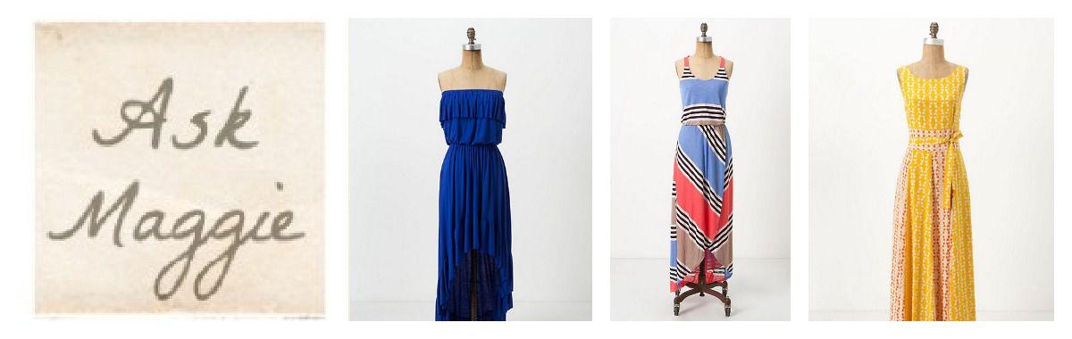 Maxi Style Bridesmaid Dresses - Rustic Wedding Chic