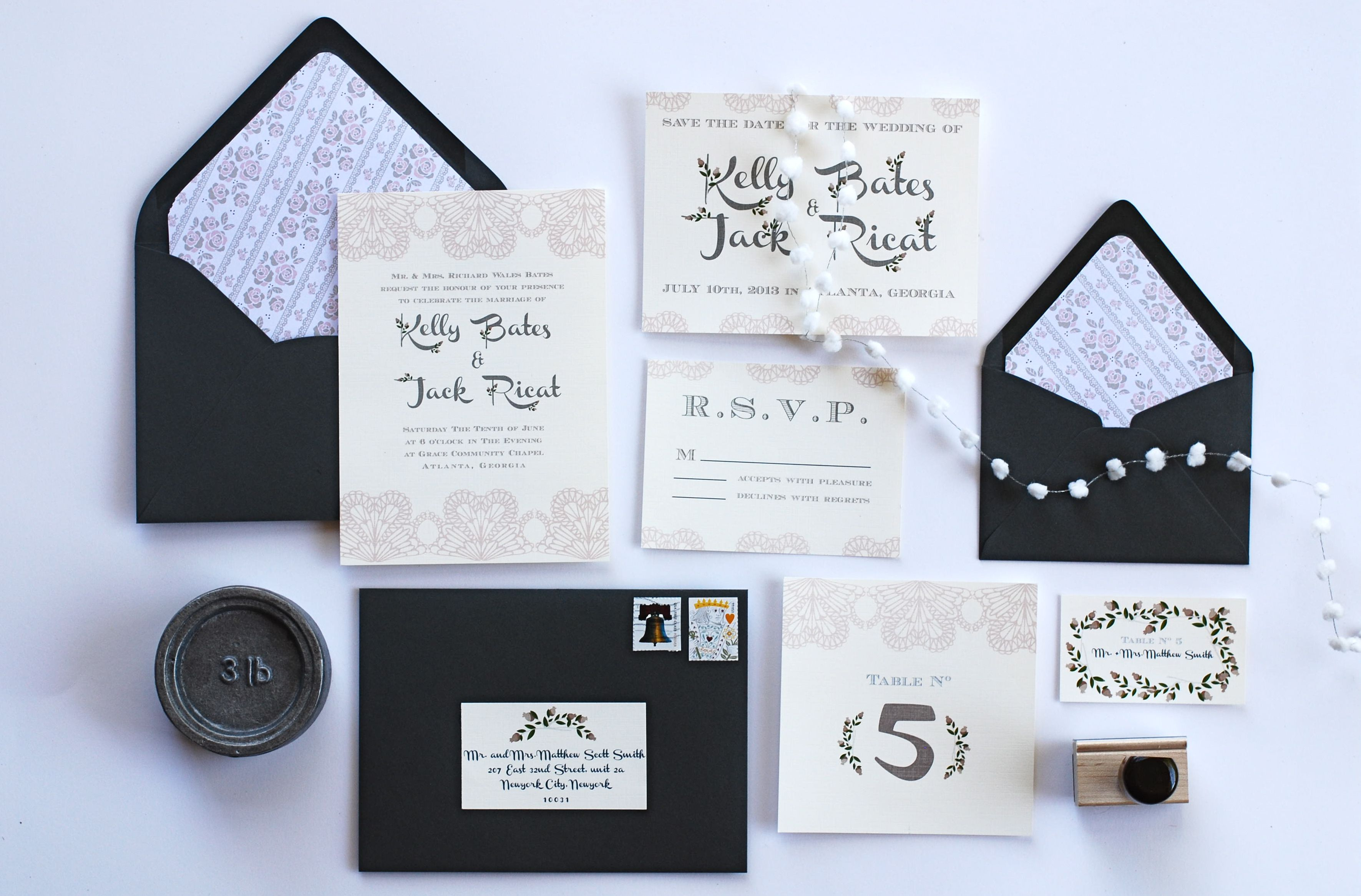 Invitation For A Vintage Style Wedding - Rustic Wedding Chic