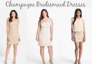Ask Maggie: Champagne Bridesmaid Dresses