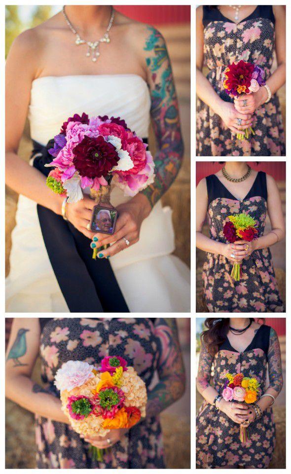 print-pattern-bridesmaid-dress