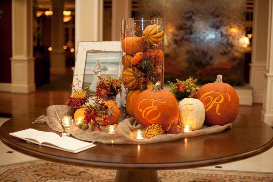 Pumpkin Wedding Decor