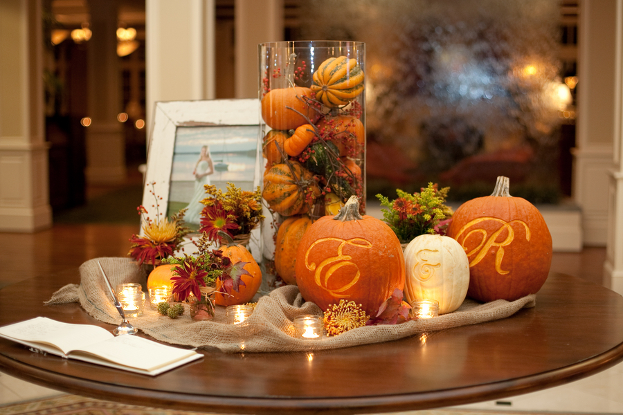 Fall wedding ideas on pinterest fall wedding pumpkin for Autumn wedding decoration