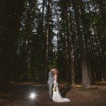 A rustic wedding at night