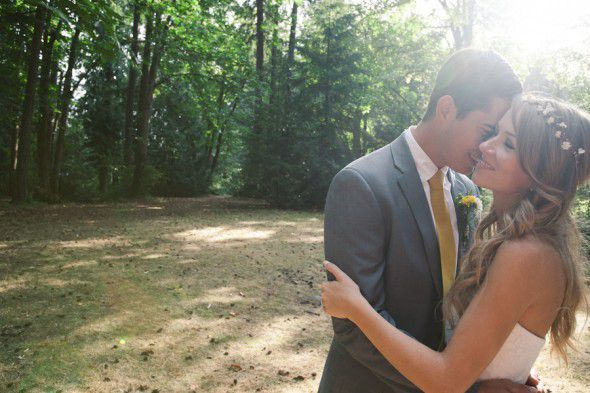 A woodsy natural wedding in a rustic location
