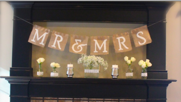 burlap-wedding-banner