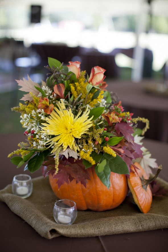 pumpkin wedding flowers