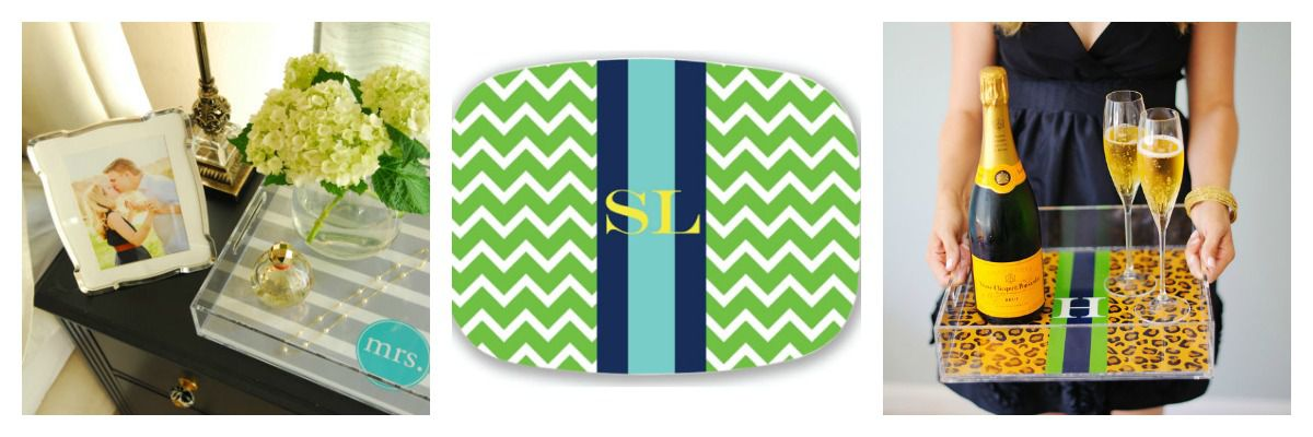 bridal shower gift ideas including monogrammed items