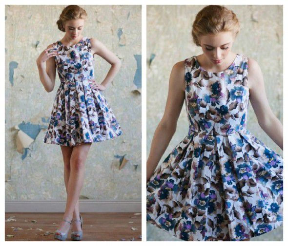 A floral bridesmaid dress for a rustic, vintage or barn wedding
