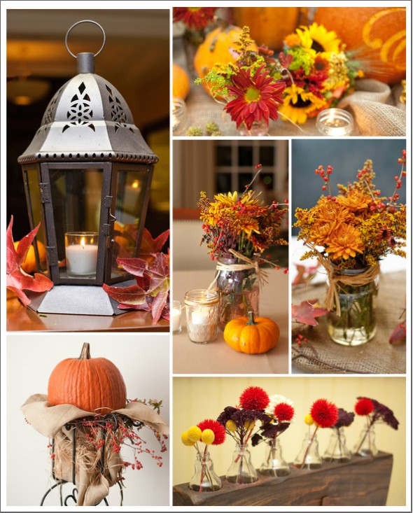 Pumpkin wedding decorations rustic chic