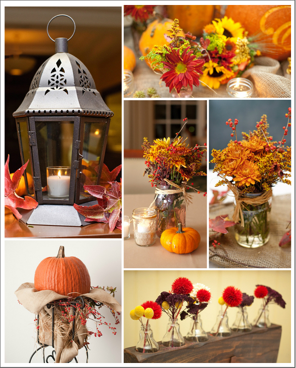 Fall Barn Wedding Ideas: Pumpkin Wedding Decorations