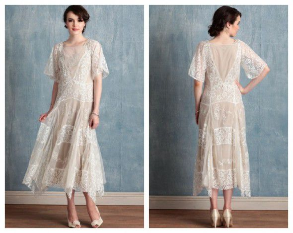 Vintage Lace Wedding Dresses On A Budget : Vintage style wedding gowns on a busget rustic chic