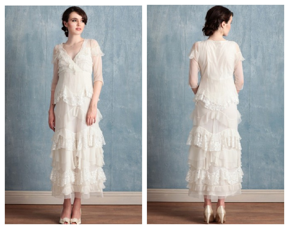 Vintage style wedding gowns on a busget rustic wedding chic for Vintage rustic wedding dresses