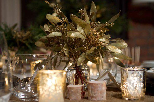 A gold wedding theme