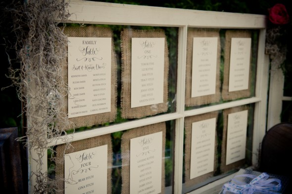 Table Assignments Display At Vintage Wedding