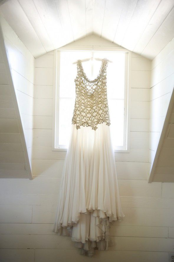 A gold wedding gown