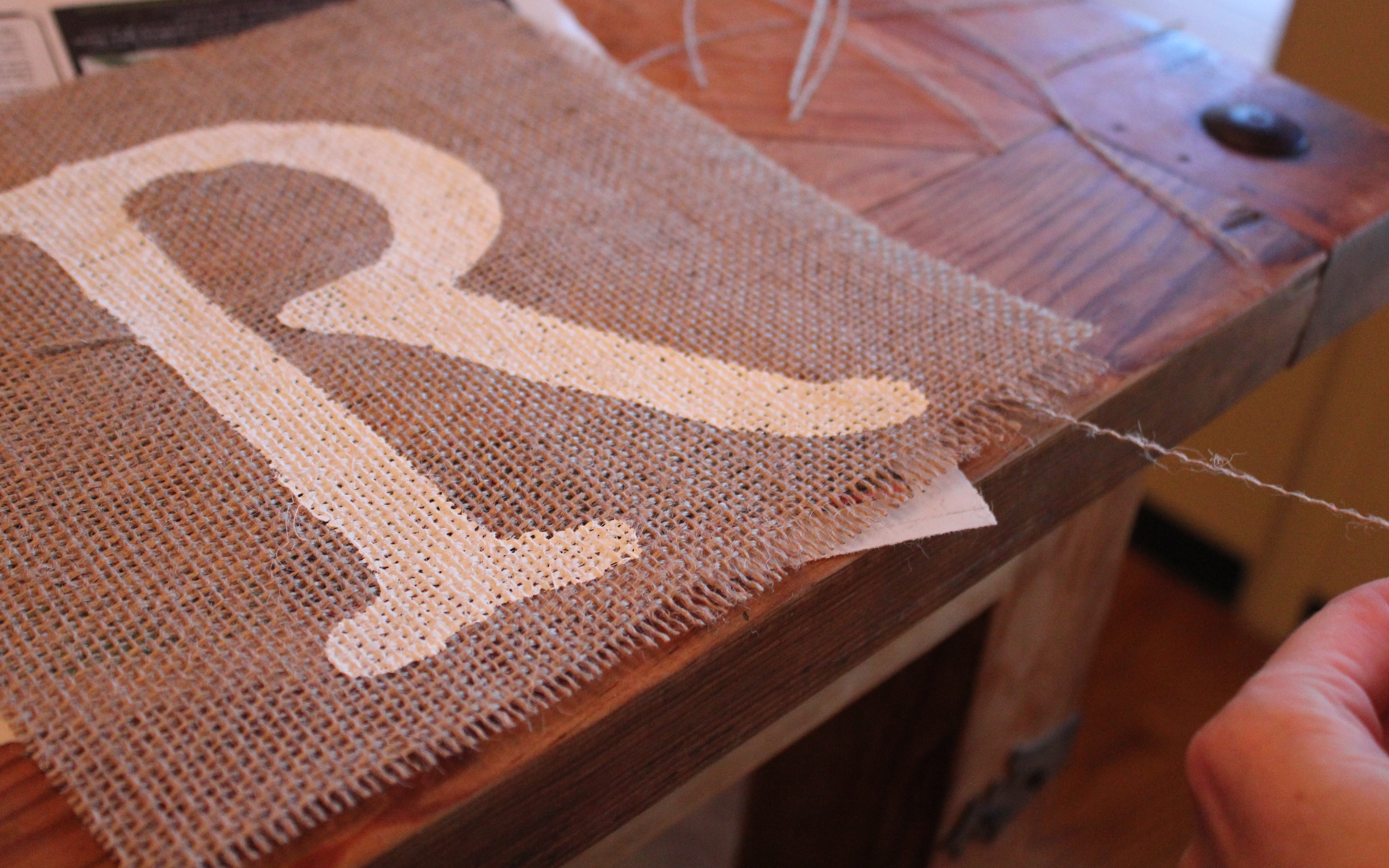 And Then The Burlap Banner Lived Hily Ever After