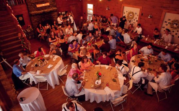 Rustic style lodge wedding