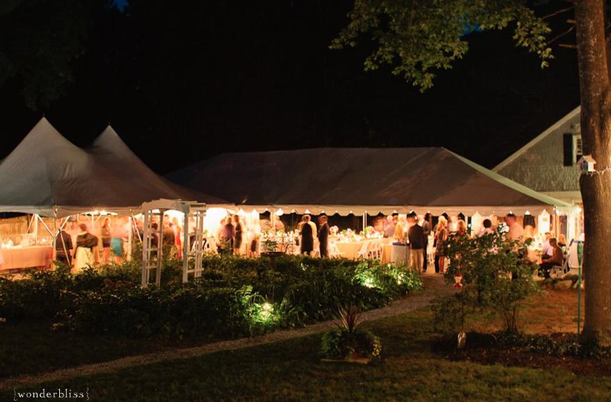 A backyard tented wedding