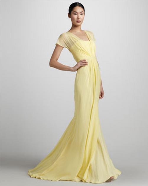 Yellow Wedding Gowns - Rustic Wedding Chic