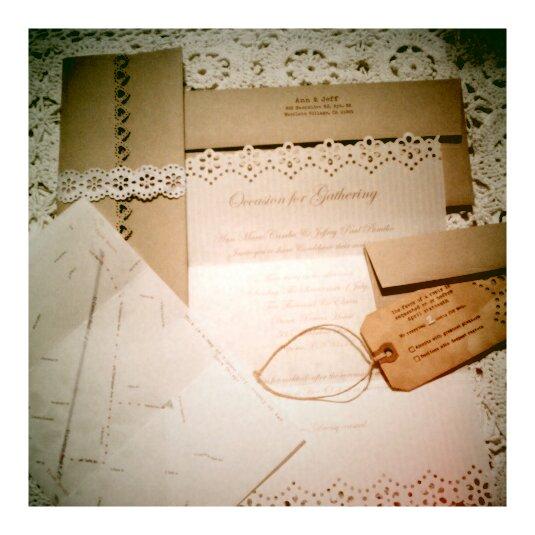 Rustic Diy Wedding Invitations: New Rustic Wedding Invitation Trends
