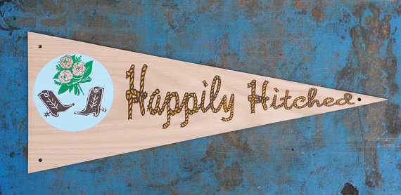 Happily Hitched Sign