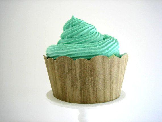 Woodgrain Cupcake Holder