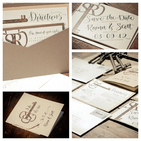 Key wedding invitation