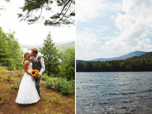 Lake wedding in New Hampshire