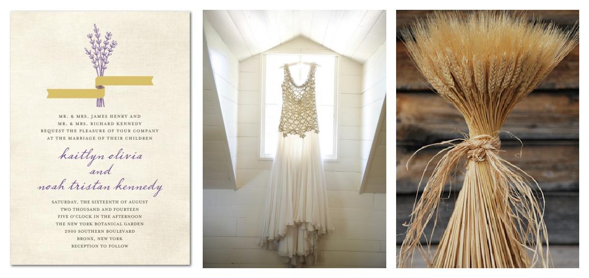 Lavender Gold Wedding