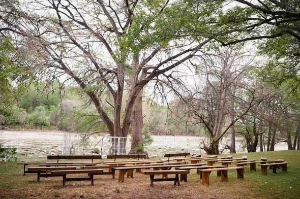 Outdoor Rustic Camp Style Ceremony