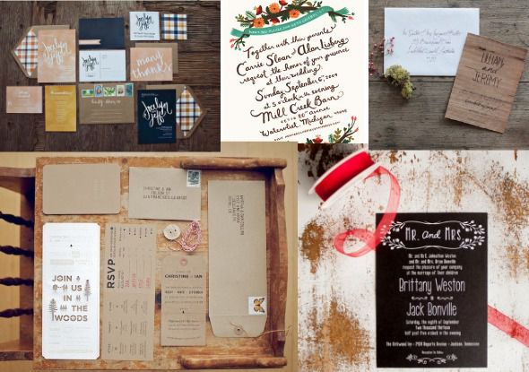 Rustic Wedding Invitation Trends