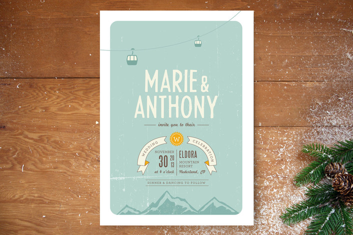 Invitations For A Winter Wedding