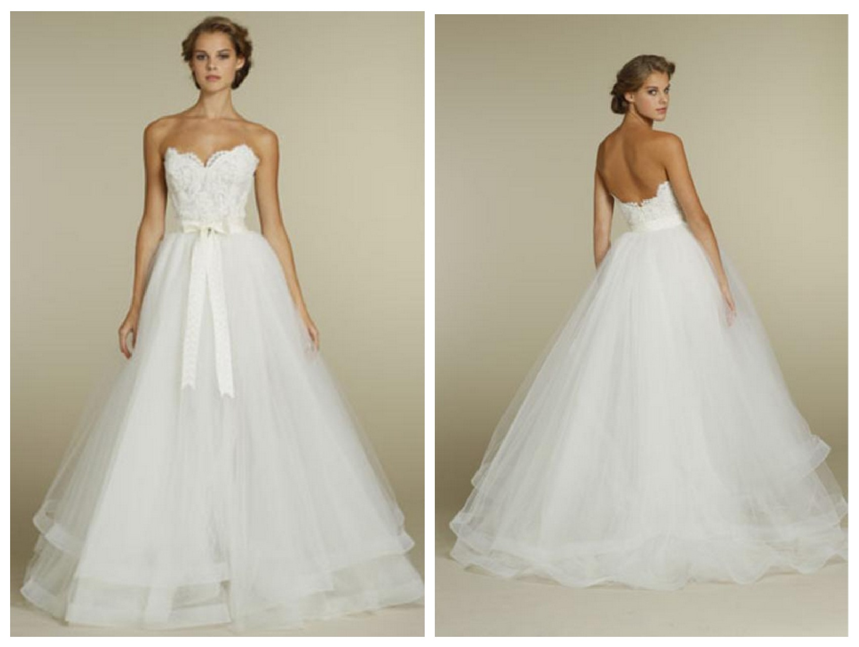 Wedding experts pick for top 10 wedding gowns rustic for Tulle halter wedding dress