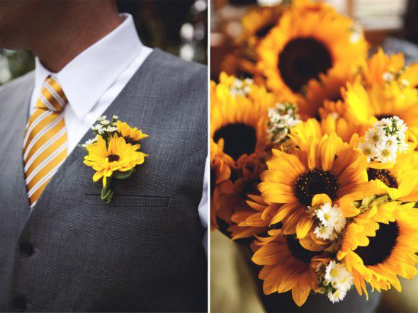 Sunflower wedding flowers