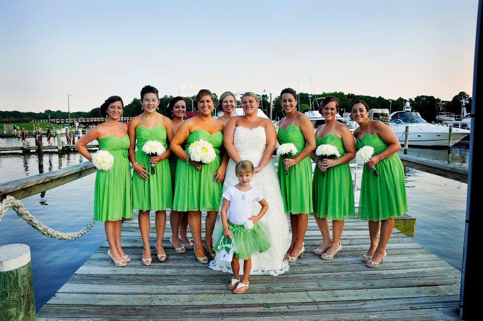 Apple Green Bridesmaid Dresses
