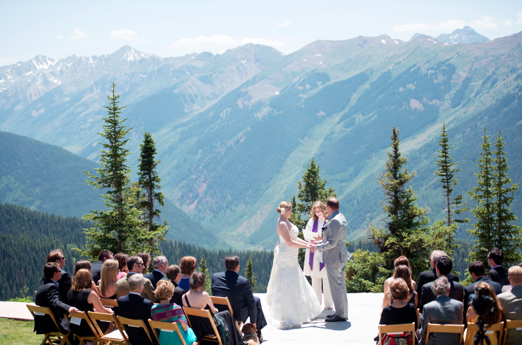 aspen colorado mountain wedding megan bobby rustic
