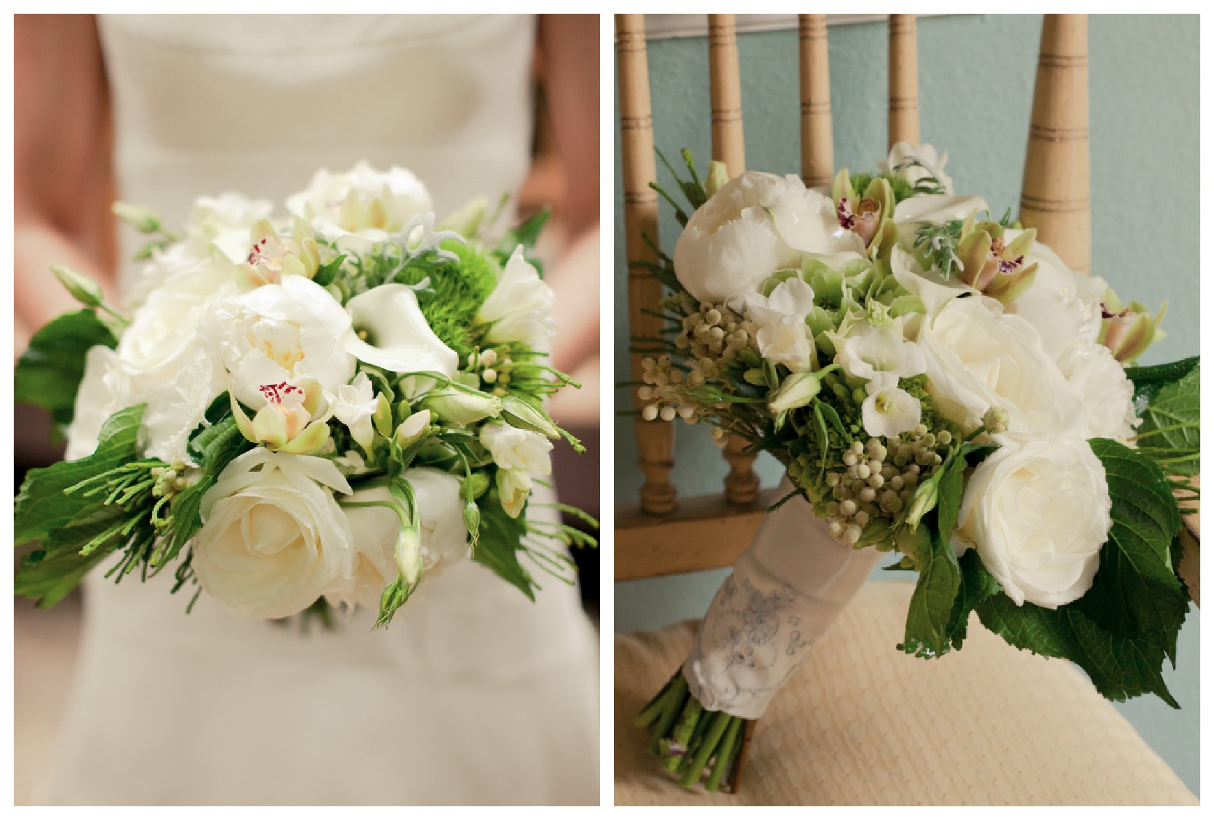 Rusticwweddingchic White Amp Green Bridal Bouquet