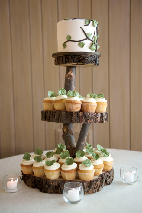 rustic wooden wedding cake stands aspen colorado mountain wedding megan bobby rustic 19594