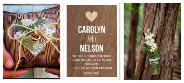 Wood theme wedding