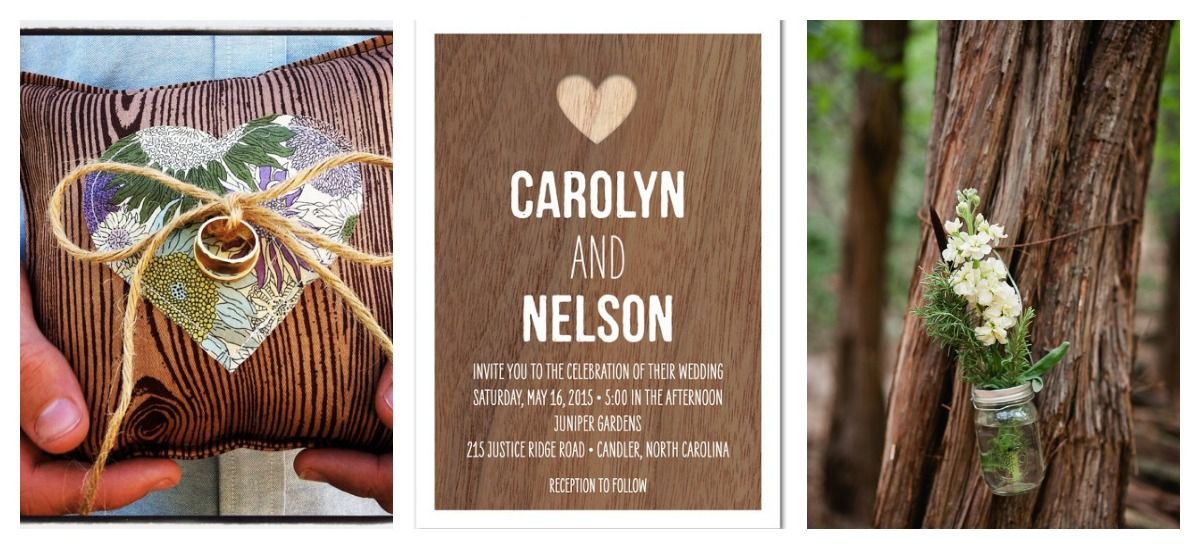 Wood Theme Wedding Inspiration Rustic Wedding Chic