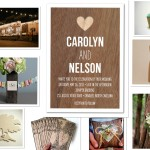 Wood wedding theme