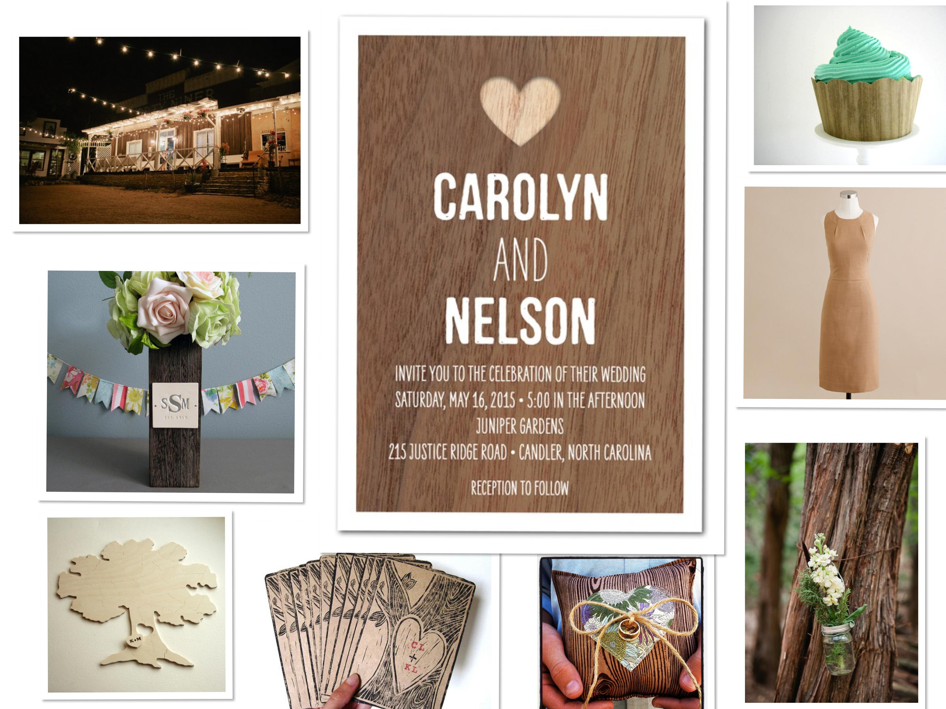 Wood wedding theme