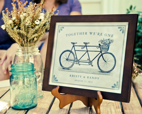 Bike Wedding Theme