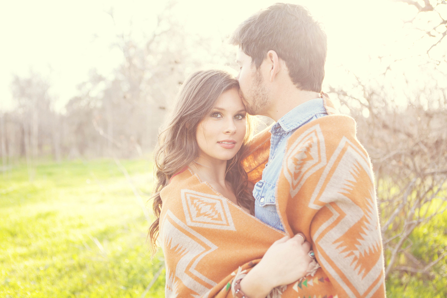 Romantic Country Wedding Engagement Pictures