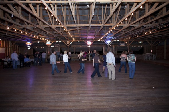 Line Dancing At Wedding