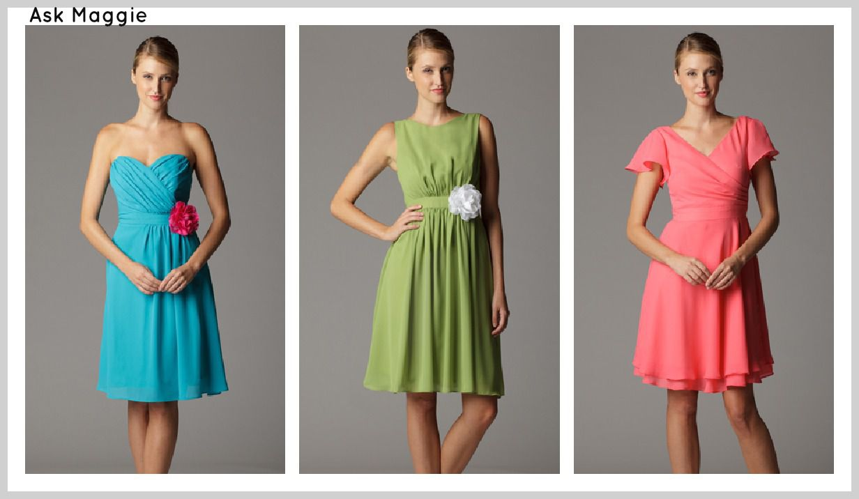 Bright Coloured Bridesmaid Dresses: Soft & Flowy Bridesmaid Dresses