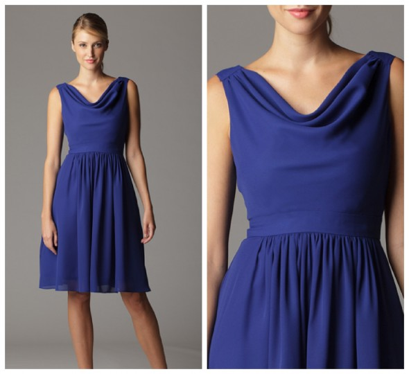 Cowl Neckline Bridesmaid Dress