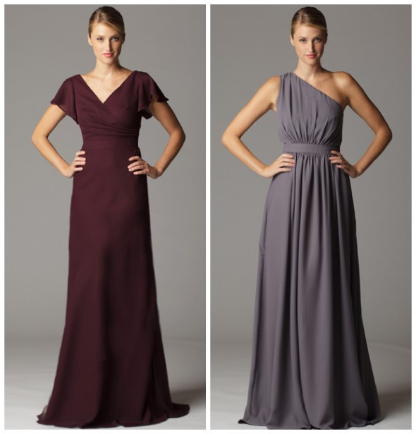 Long One Shoulder Bridesmaid Dress